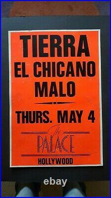 TIERRA/EL CHICANO/MALO Original Promo Concert Poster 1989 Latin R&B Soul Funk
