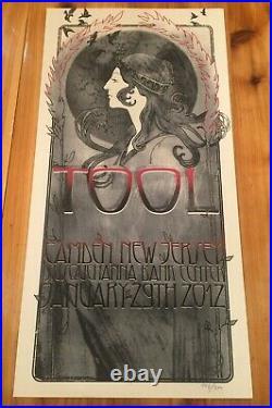 TOOL Band Concert Tour Poster 2012 Korin Faught Art Camden NJ Adam Jones 446/500