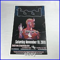 TOOL Lateralus November 10, 2001 Hawaii Concert Tour Poster