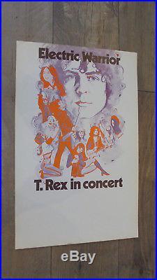 T. Rex Electric Warrior Original 1972 USA Concert Promo Poster MARC BOLAN