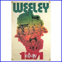 T Rex / Status Quo / Rory Gallagher 1971 Weeley Festival Concert Poster (UK)