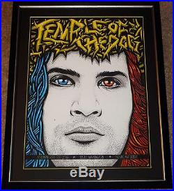 Temple Of The Dog Custom Framed Ames Bros. 2016 Seattle Concert Show Poster Mint