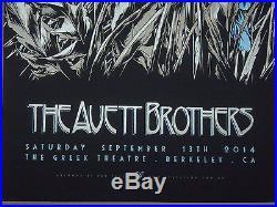 The Avett Brothers Ken Taylor concert poster screen print Berkeley Greek Theatre