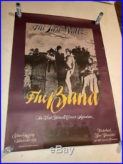 The Band The Last Waltz Winterland 1976 Bill Graham Presents Concert Poster