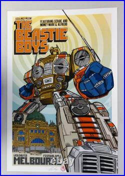 The Beastie Boys Melbourne Australia Concert Poster Rhys Cooper Signed