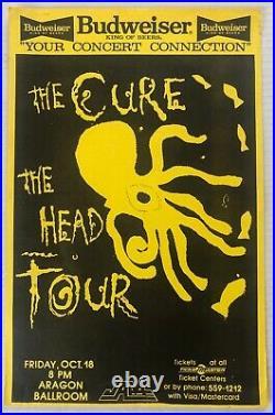 The CURE Aragon Ballroom 1985 US ORG The Head Tour CONCERT POSTER Robert Smith