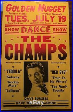 The Champs ORIGINAL 1960 Boxing Style Concert Poster