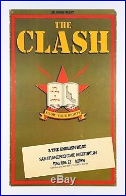 The Clash 1982 San Francisco Concert Poster USA