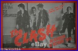 The Clash AU Stadium Vintage Original C. B. S French Concert Promo Poster 1978