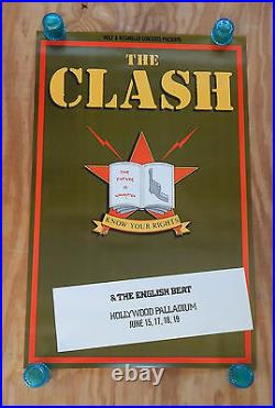 The Clash Know Your Rights Original Rolled Rock Concert Promo Poster (1982)