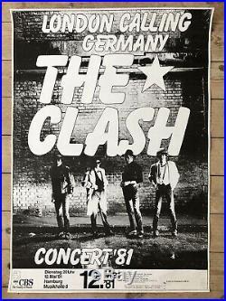 The Clash Original 1981 Hamburg London Calling Germany Concert Poster