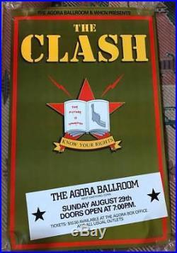The Clash Original Concert Poster