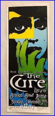 The Cure Dallas Tx 1997 Original Silkscreen Concert Poster Kuhn