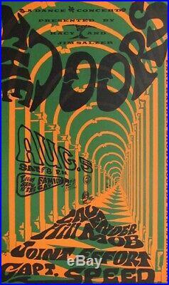 The Doors At Earl Warren'A Dance Concert' by Jim Salzer 1967 Concert Poster