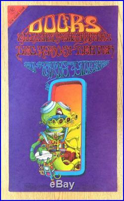 The Doors Denver 1967 Original Concert Poster Rick Griffin Fdd18-1