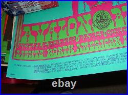 The Doors Miller Blues Band Avalon Ballroom Family Dog Concert Poster Fd-64