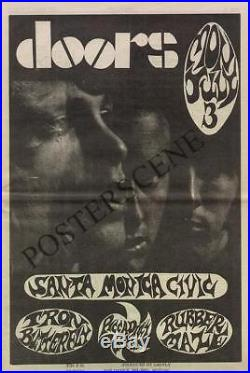 The Doors Santa Monica Original Concert Ad Poster 1967 Newspaper