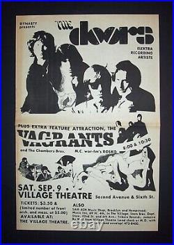 The Doors Village Theatre, NYC 1967 RARE Poster Type Concert Ad, Advert + Bonus