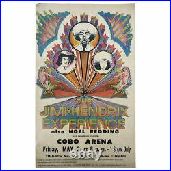 The Jimi Hendrix Experience 1969 Cobo Arena Detroit Concert Poster (USA)