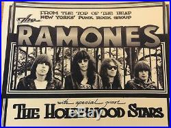 The Ramones Vintage Original Concert Poster 1977