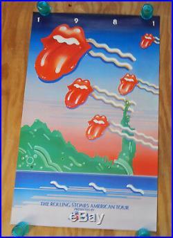 The Rolling Stones Original 1981 American Tour Rock Concert Poster (1981)