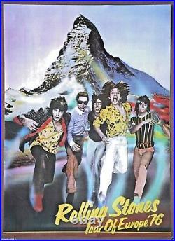 The Rolling Stones Vintage Original European 1976 Tour Concert Poster