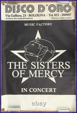 The SISTERS OF MERCY Armageddon Tour 1985 ITALY Concert POSTER Tour Blank GOTH