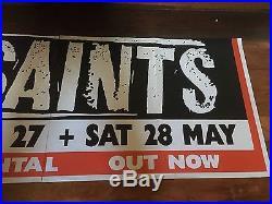 The Saints & The Divinyls 1988 Silkscreened Rare Original Music Concert Poster