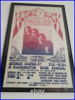 The Stooges Original Concert Poster Farmington 1970 Iggy Pop Boxing Style Lp Bg