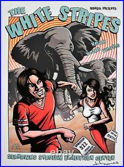 The White Stripes Concert Poster Justin Hampton 2003