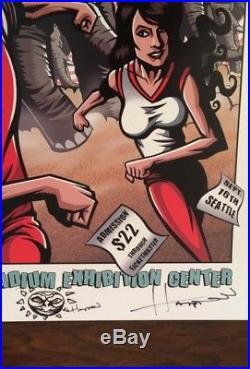 The White Stripes Seattle WA 2003 Concert Poster Test Jack Justin Hampton RARE