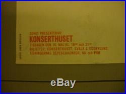 Thelonious Monk 1961 Original Concert Poster Sweden Rare