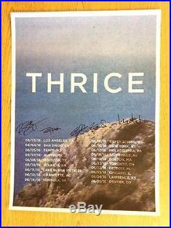 Thrice Tour 2016 Signed Original Concert Poster Autograph