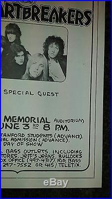 Tom Petty concert poster original 1978 June 3