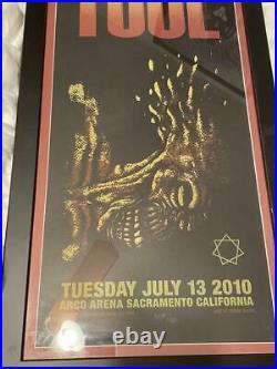 TooL concert poster-Sacramento CA 7/13/10 artwork/Adam Jones print RARE