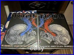 TooL concert poster set San Francisco CA Adam Jones Bill Graham Civic 3/11-12/14