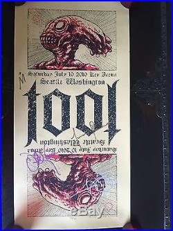 Tool Autographed Concert Poster Seattle July 10 2010 127/400