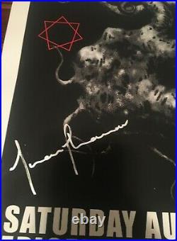 Tool Concert Poster-band Signed/embossed Adam Jones Art Pomona 2009 Ltd Ed 100