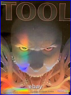 Tool Dallas poster 2020 concert american airlines center holographic esad ribic
