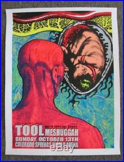 Tool Meshuggah Colorado Springs 2002 Original Concert Poster Kuhn Silkscreen