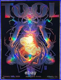 Tool Poster Atlanta State Farm 2020 concert tour limited edition holographic