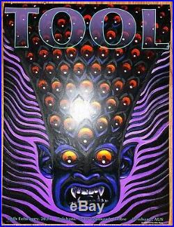 Tool Poster Brisbane Australia Entertainment 2020 Alex Grey /500 concert tour
