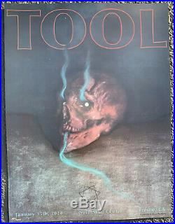 Tool Poster Fresno Save Mart 2020 concert tour limited edition holographic