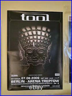 Tool Promo Concert Poster (Summer'06 10,000 Days European Tour) Berlin, Germany