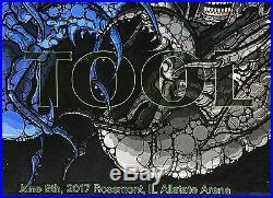 Tool concert poster rosemont 6/8 2017 allstate arena 522/600 maynard j. Keenan