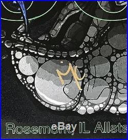 Tool signed concert poster rosemont 6/8 2017 allstate arena chicago maynard j. K