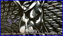 Tool signed poster philadelphia 2019 concert tour fear inoculum autographed