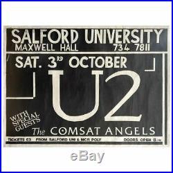 U2 1981 Salford University Concert Poster (UK)