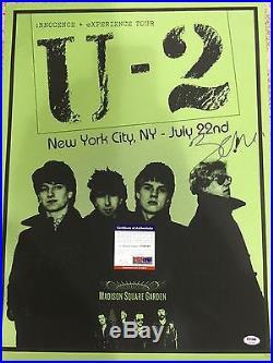 U2 BONO Signed MSG Original Autograph Concert Poster Psa/DNA