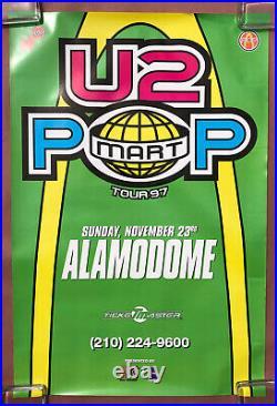 U2 Popmart Tour Alamodome San Antonio TEXAS 1997 CONCERT POSTER OASIS Bono EDGE